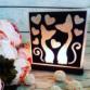 Соляная лампа «Влюбленные коты»