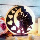Соляна лампа «Слоник на Місяці»