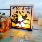 Соляна лампа «Фея з пташкою»