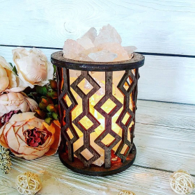 Соляная лампа «Корзина Ромбы»