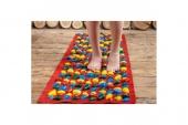 Коврик массажный с цветными камнями 200 х 40 см